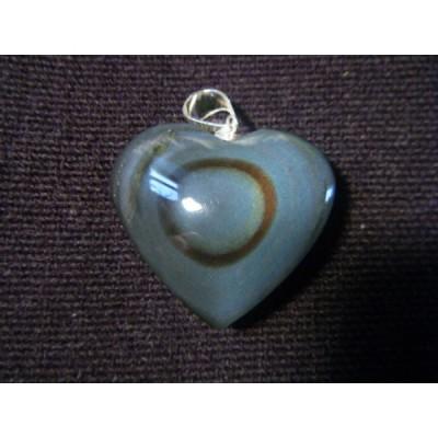 pendentif coeur obsidienne