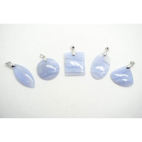 Pendentif Calcedoine (Blue Lace Agate)