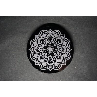 Mandala Miroir obsidienne
