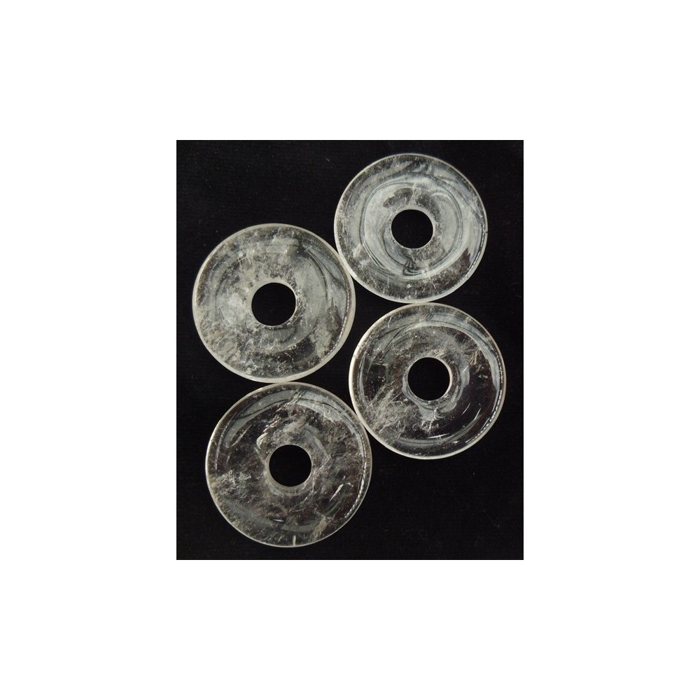 Pendentif donut cristal de quartz
