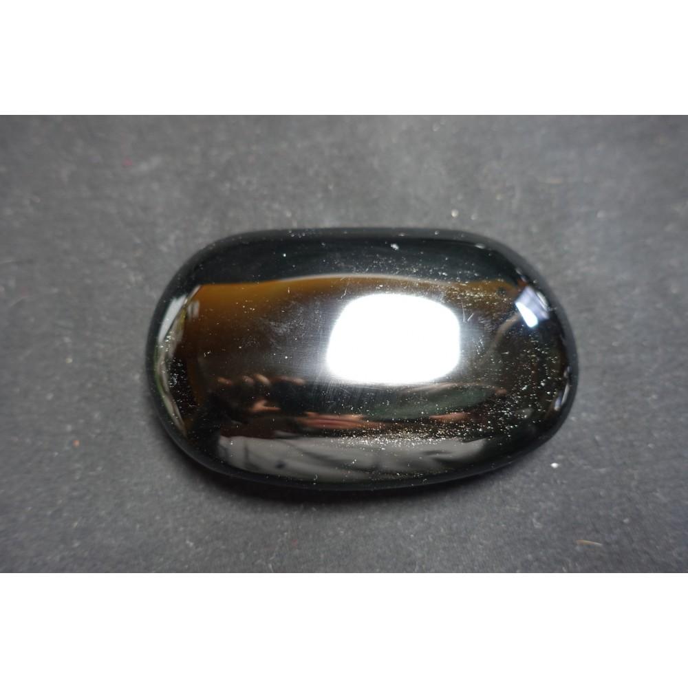 Galet en obsidienne Noire