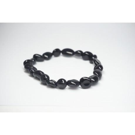 Bracelet Tourmaline noire petit galet