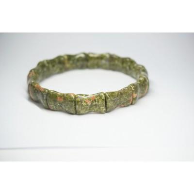 Bracelet Unakite Bambou