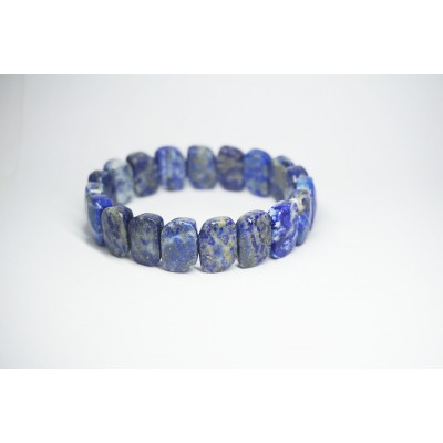 Bracelet Lapis lazuli S avec Facettes