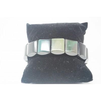 Bracelet Obsidienne oeil céleste plat