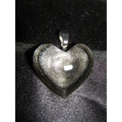Pendentif coeur Obsidienne...