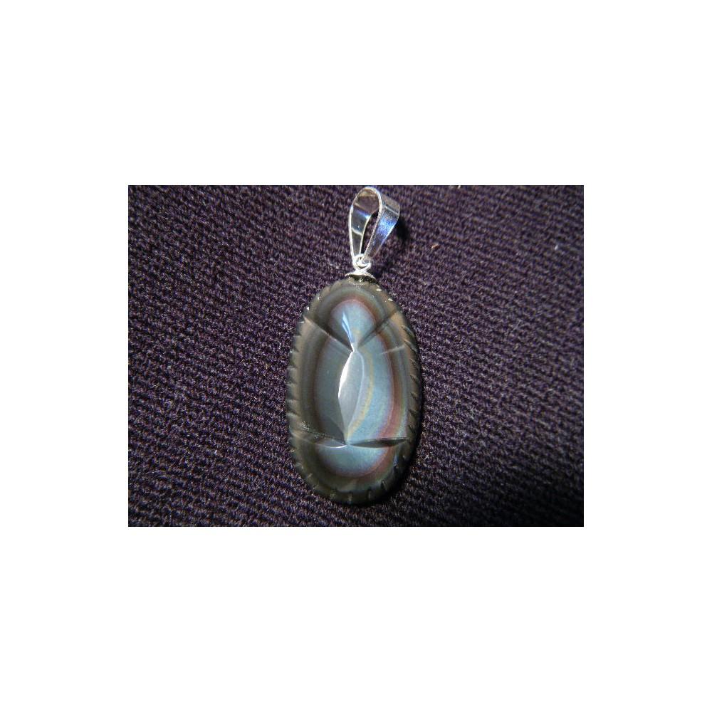 Pendentif vièrge obsidienne grossiste