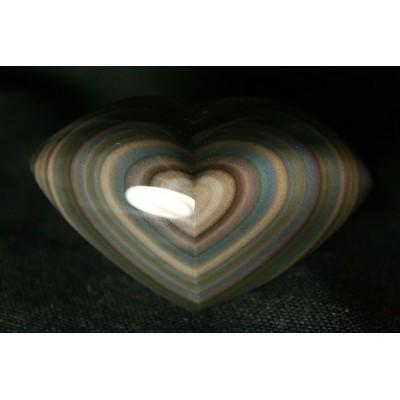 Coeur oeil céleste obsidienne