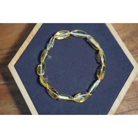 Bracelet adulte Ambre Translucide Citron