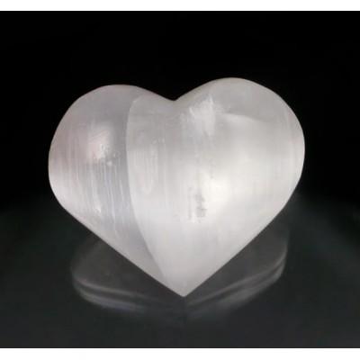 Cœur en Sélénite Blanc 4cm...