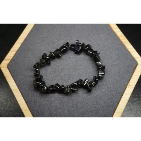 Bracelet Obsidienne Noire Lot de 10