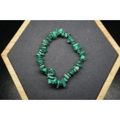 Bracelet Chips Malachite Lot de 10