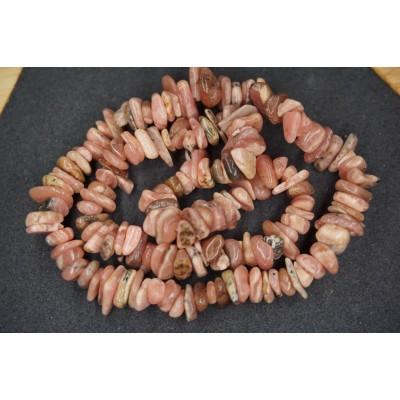 Bracelet Chips Rhodochrosite Lot de 10