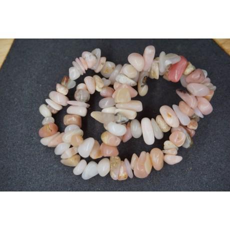 Bracelet Chips Opale Rose Lot de 10