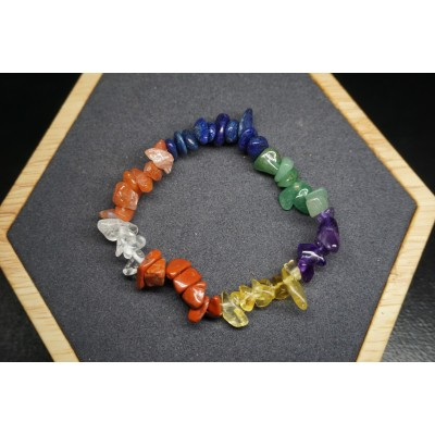 Bracelet Chips 7 Chakras Lot de 10
