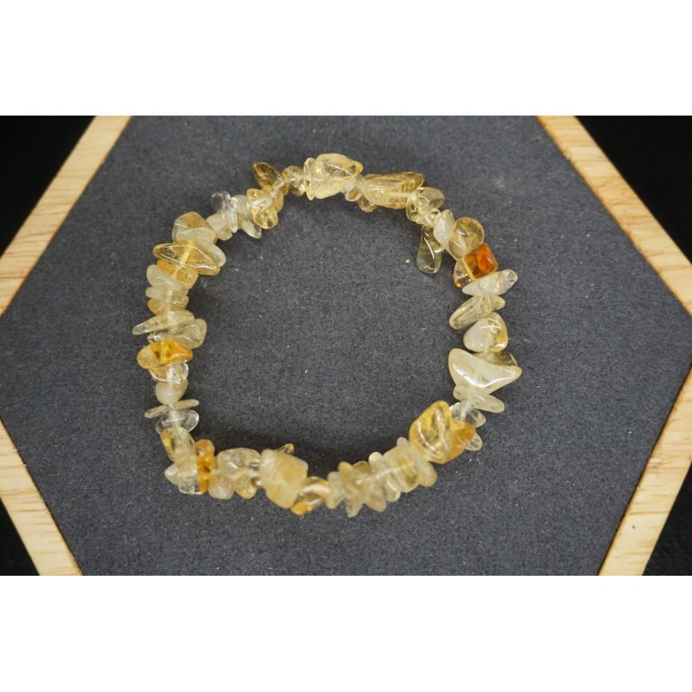 Bracelet Chips Citrine chauffée Lot de 10