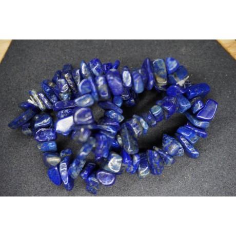 Bracelet Chips Lapis Lazuli Lot de 10