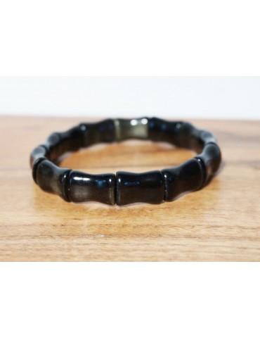 Bracelet Obsidienne Dorée...