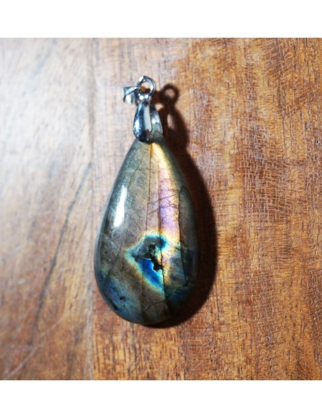 Pendentif Labradorite Violette fournisseur de pierres
