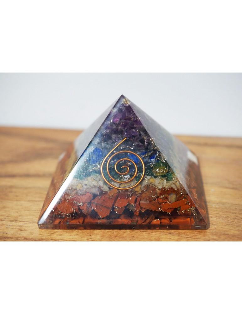 Pyramide orgonite 7 Chakra