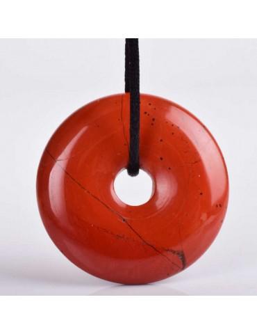 Pendentif Jaspe Rouge donut