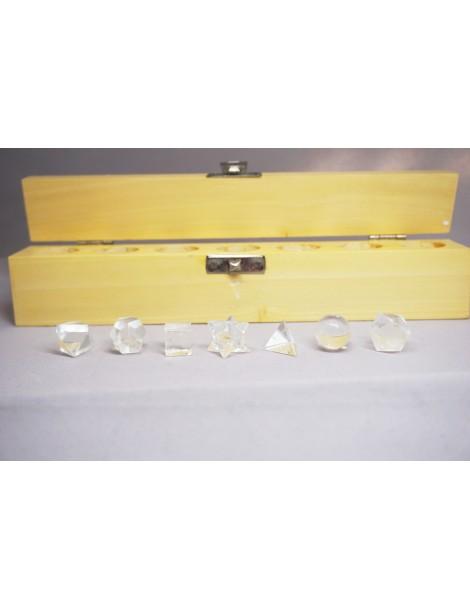 Solide de Platon cristal de quartz