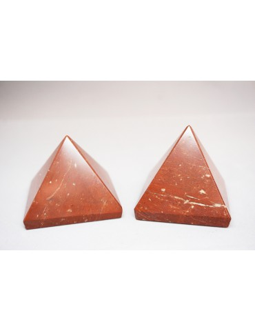 Pyramide en Jaspe Rouge