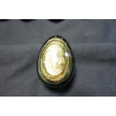 Oeuf en obsidienne dorée